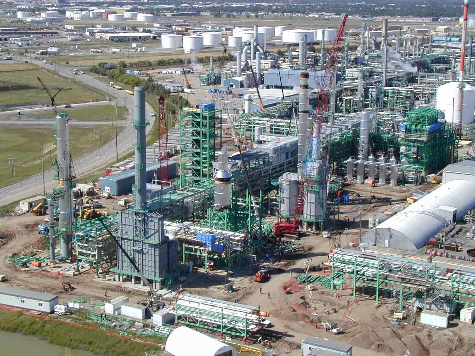 Co-op Refinery - aerial shot